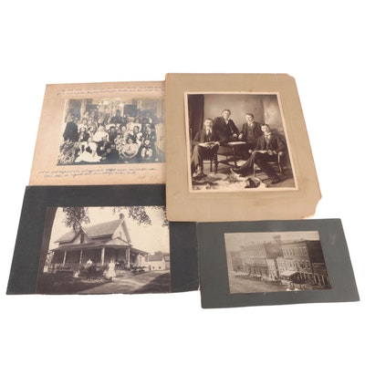 Silver Gelatin Prints of Group Portraits and Kenton Architecture, Circa 1900