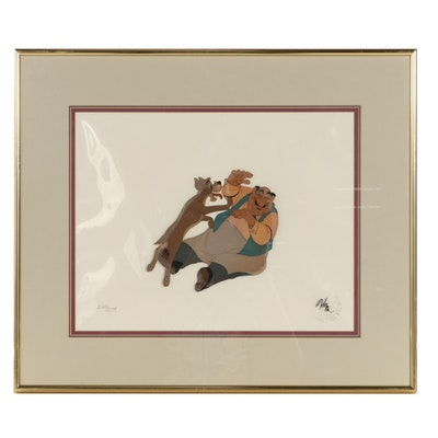 """Disney """"Lady and the Tramp"""" Hand-Painted Animation Cel"""
