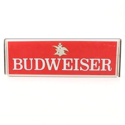 Budweiser Beer Electric Bar Sign, 1976
