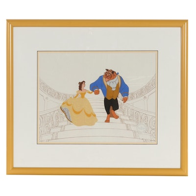 """Disney Animation Serigraph Cel """"Beauty and the Beast,"""" 1992"""