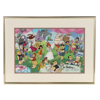 "Bill Hanna and Joe Barbera Animation Cel ""Pebbles' Reception,"" 1993"