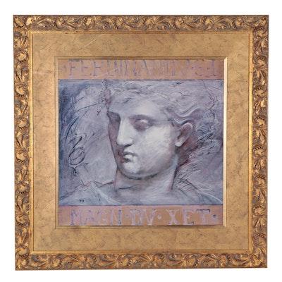 "Large-Scale Embellished Offset Lithograph After Richard Franklin ""Ferdinand"""
