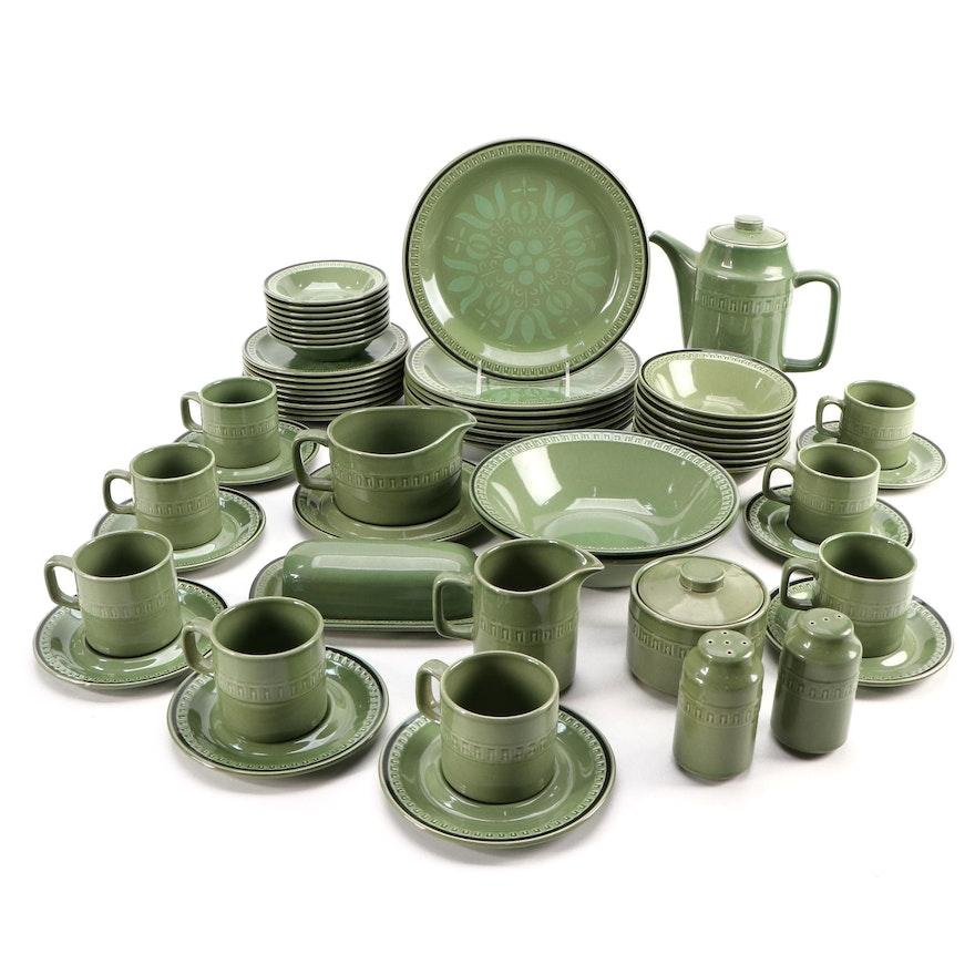 "Stonecraft ""Seminole"" Stoneware Dinnerware with Other Table Accessories"