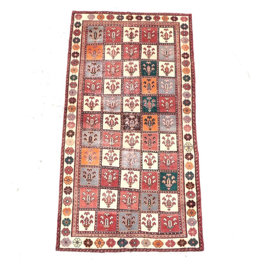 4'8 x 9'3 Hand-Knotted Persian Bakhtiari  Garden Panel Area Rug