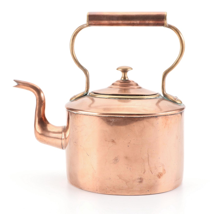 Copper Tea Kettle, Early 20th Century