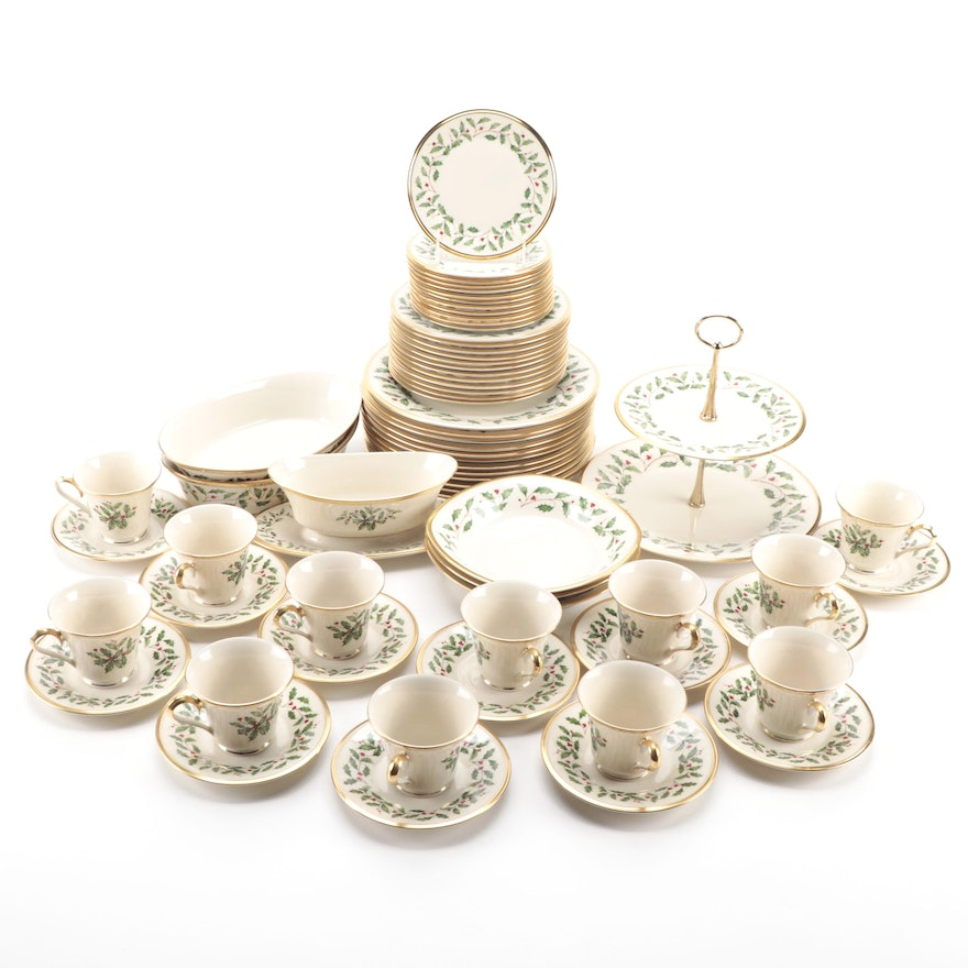 """Lenox """"Holiday"""" Porcelain Dinnerware and Serving Dishes"""