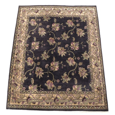 8' x 10'9 Hand-Knotted Indian Floral Room Sized Rug from The Rug Gallery
