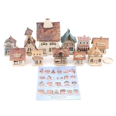 """Windy Meadows Pottery """"Saloon"""" and More Hand Built Ceramic Candle Houses"""