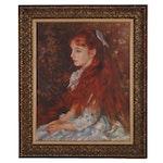 "Oil Painting After Auguste Renoir ""La Petite Irene"""