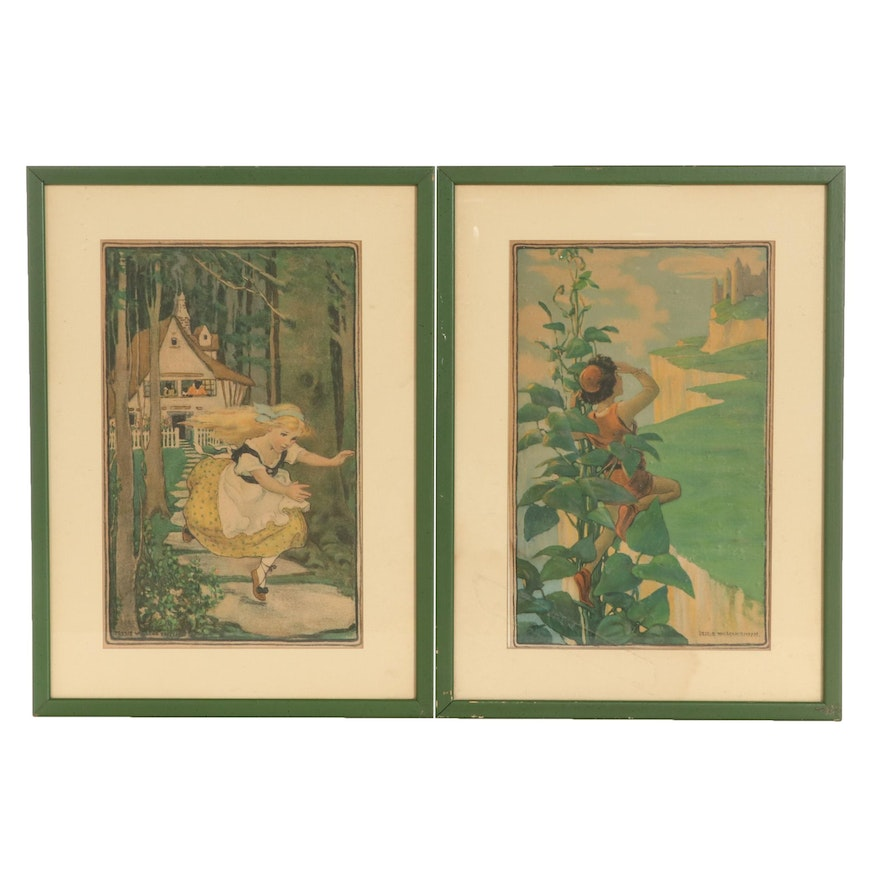 Offset Lithographs After Jessie Willcox Smith of Book Illustrations