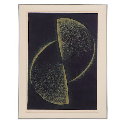 """Etching With Aquatint """"Configuration of Space No. 55,"""" 1968"""