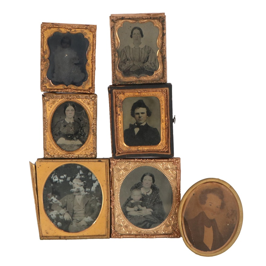 Ambrotype and Other Portraits, Late 19th Century