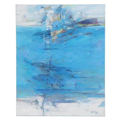 "Alexandra Zecevic Abstract Acrylic Painting ""Nice Day,"" 2021"