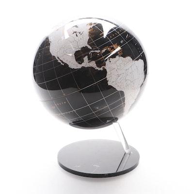 Artline Black and White Resin Tabletop Globe