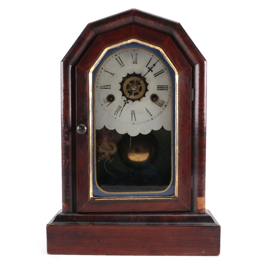 Wm. L. Gilbert Mahogany Veneer Mantel Clock, Late 19th/ Early 20th Century