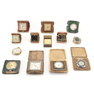Bulova, Waltham, Tourist, and Other Travel Clocks, Mid-20th Century