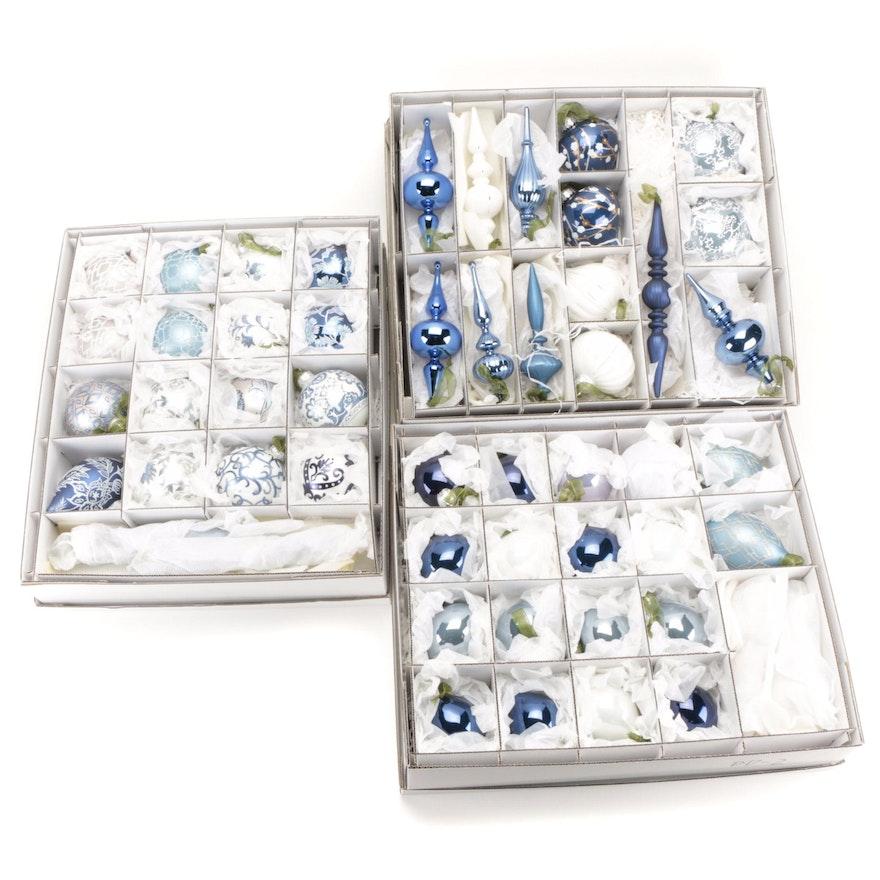 Frontgate Handblown Glass Ornament Collection