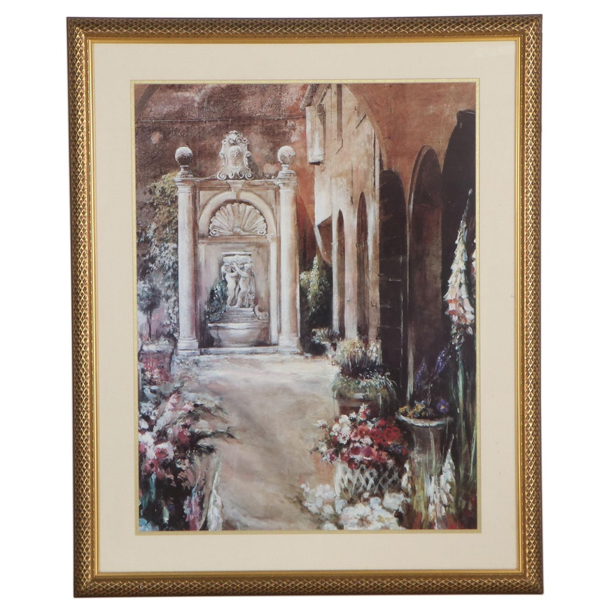 """Offset Lithograph After Mary Dulon """"Capranica"""""""