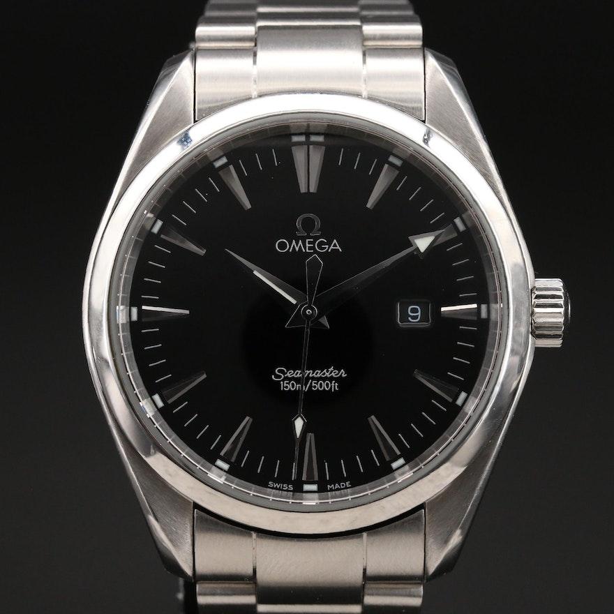 Omega Seamaster Aqua Terra Stainless Steel Quartz Wristwatch