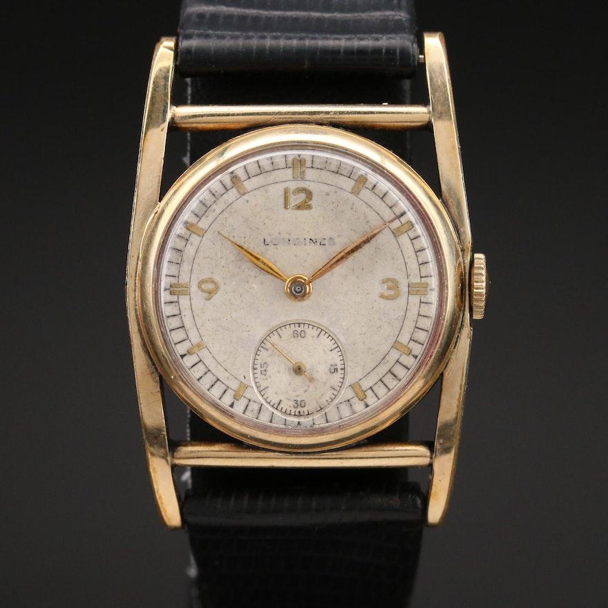 1940s Longines Stem Wind Wristwatch