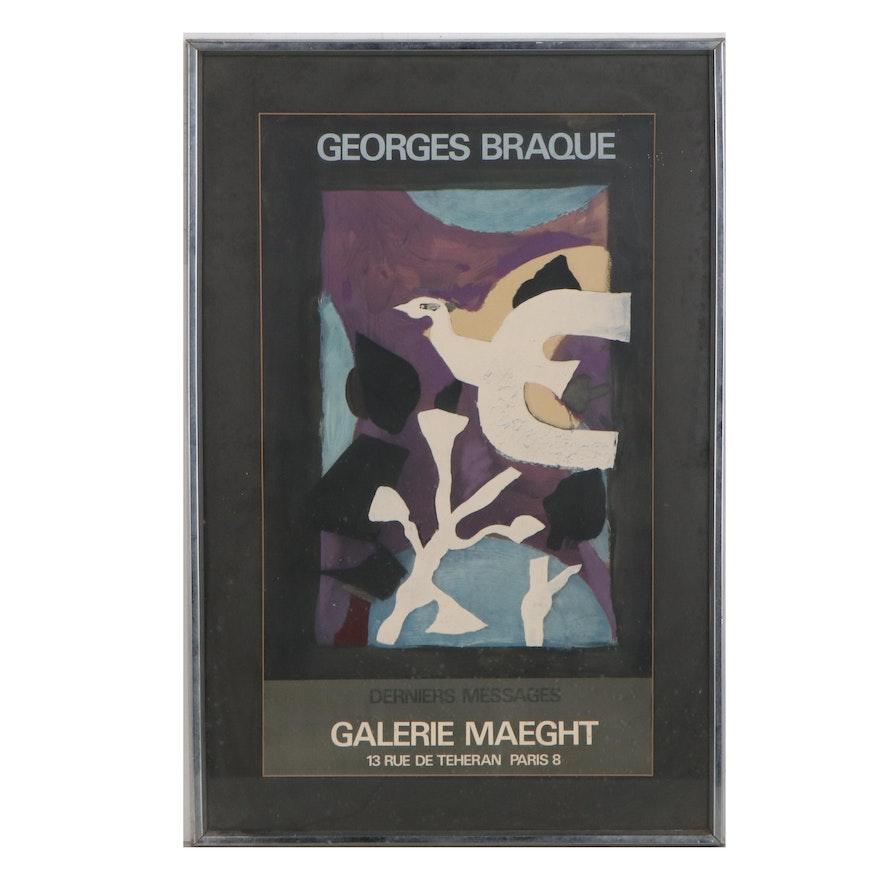 "Galerie Maeght Georges Braque Exhibition Poster ""Derniers Messages,"" 1967"