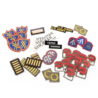 United States Army Patches and Name Plates, Mid to Late 20th Century