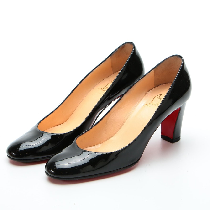 Christian Louboutin Miss Titck Pumps in Black Patent Leather with Box