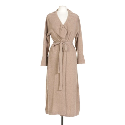 Maddy James Cashmere Duster with Bell Cuffs and Tie Belt