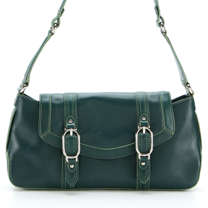 Cole Haan Trinity Shoulder Bag in Green Leather