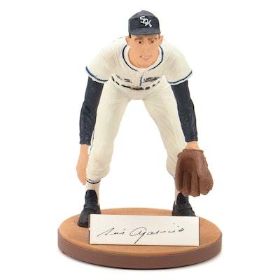 """Luis Aparicio Signed """"Mr Shortstop"""" Gartlan Figurine in Packaging, COA"""