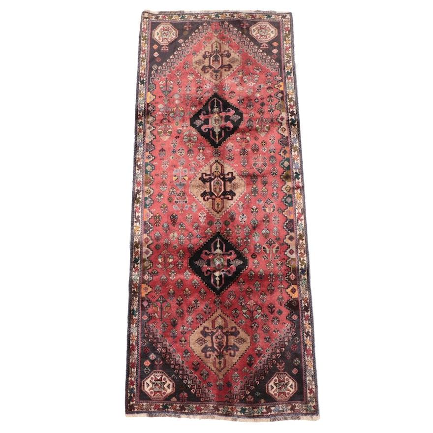 3'4 x 8'7 Hand-Knotted Persian Qashqai Long Rug
