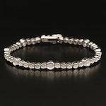 Sterling Diamond Illusion Set Bracelet