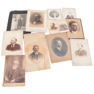 Cabinet Card and Carte de Visite Portraits, Late 19th Century