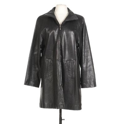 Women's Avanti Genuine Black Leather Jacket