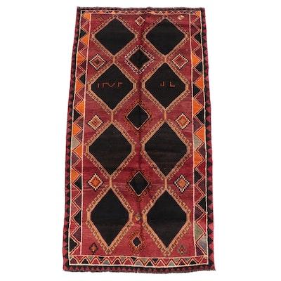 4'10 x 9'6 Hand-Knotted Caucasian Kazak Area Rug