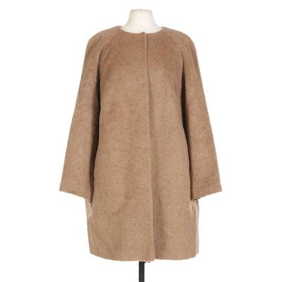 Boden Tan Wool Blend Coat