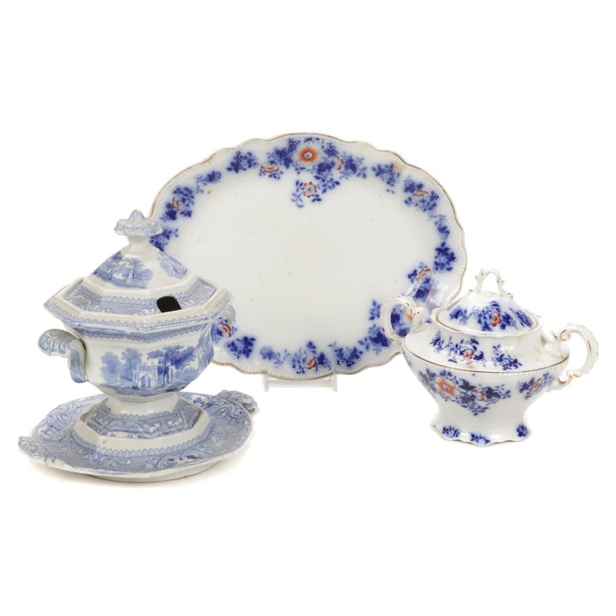 """W. H. Grindley & Co. """"Derby"""" and Other English Ironstone """"Patras"""" Tableware"""
