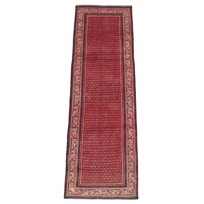 3'3 x 10'1 Hand-Knotted Persian Seraband Long Rug
