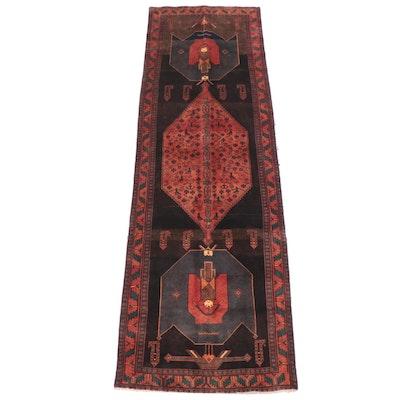 4'6 x 14'9 Hand-Knotted Persian Kurdish Long Rug