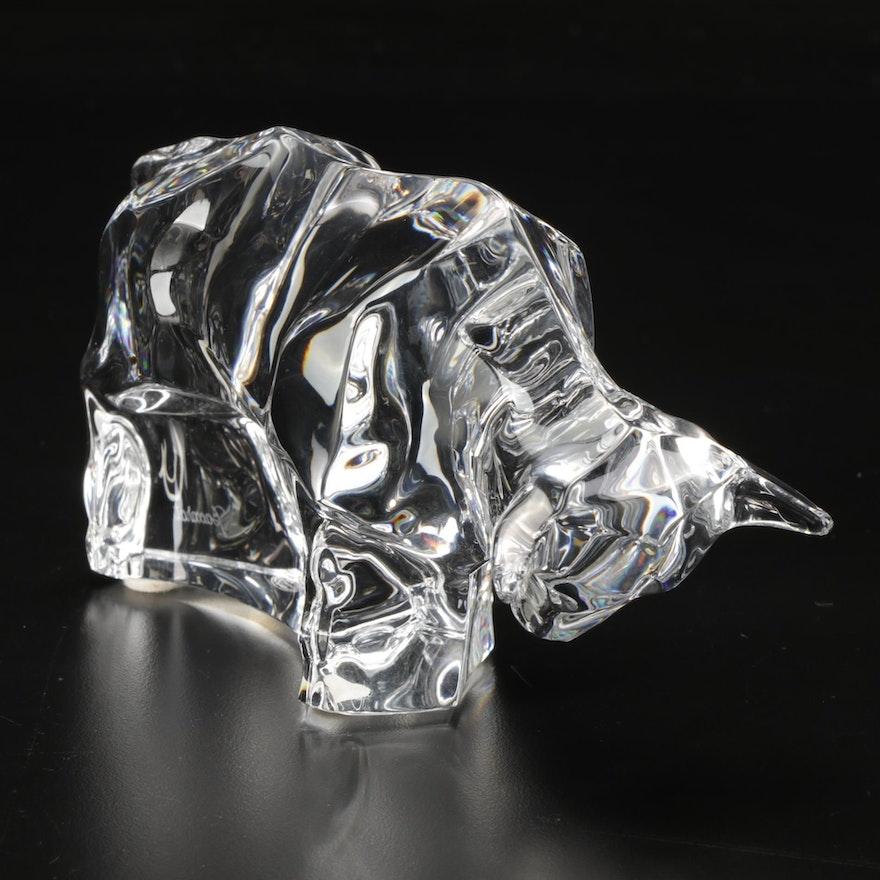 Baccarat Crystal Bull Figurine
