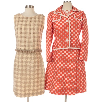 Doncaster Custom Cut Dress Suit with Belt and King's Beaded Tweed Two-Piece