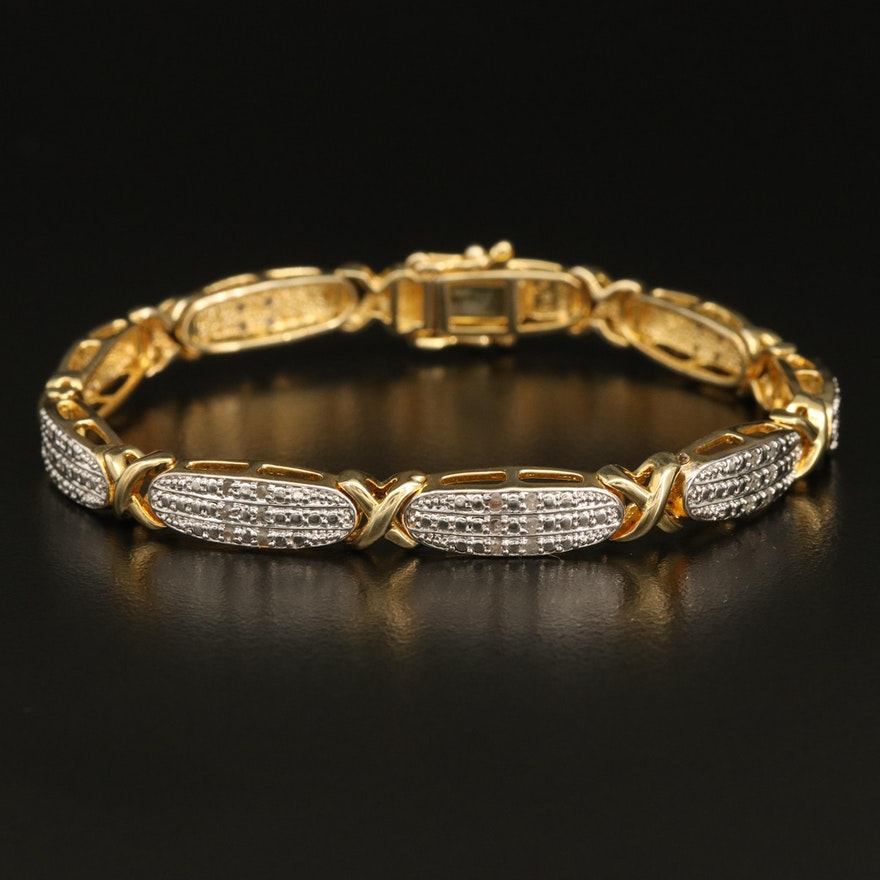 Diamond Crossover Bracelet