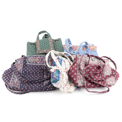 Vera Bradley Tote, Backpack, and Shoulder Bags in Paisley and Floral Print