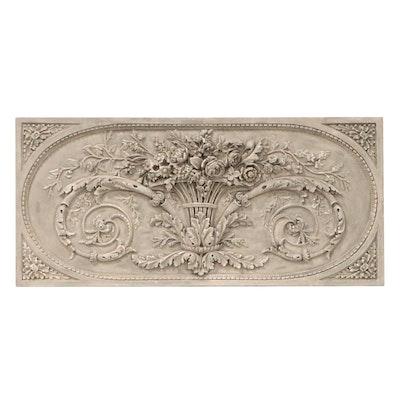 "Ballard Designs ""Grande Bouquet"" Classical Style Relief Wall Plaque"