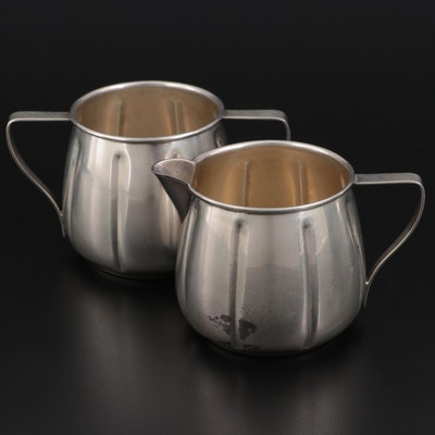 G.H. French & Co. Sterling Silver Creamer and Sugar, 1920–1939