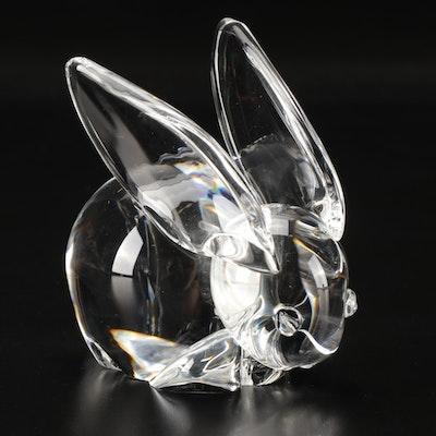 Steuben Art Glass Rabbit Paperweight