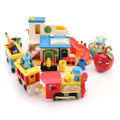 Fisher-Price Sesame Street Clubhouse with Train and Other Fisher-Price Toys