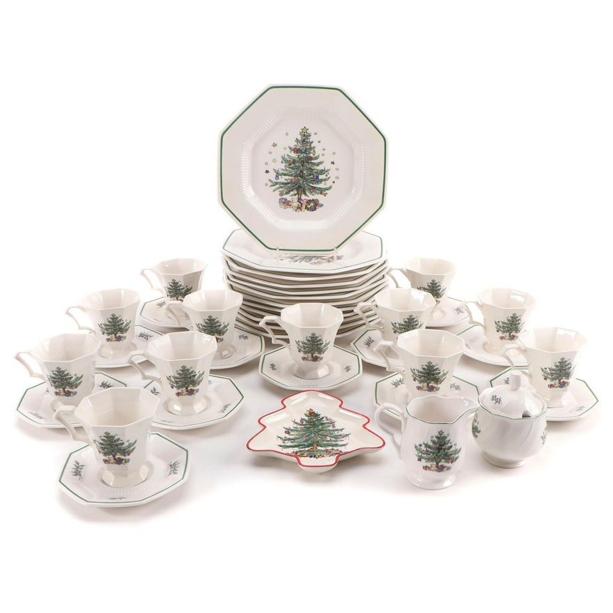 """Nikko """"Christmastime"""" with Spode and Other Christmas Dinnerware"""