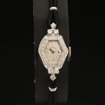 Hamilton 14K 1.66 CTW Diamond Wristwatch