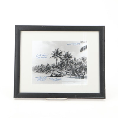 WWII Black Sheep Squadron Navy Fighter Pilot Signed Photo Print